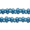 Bow Beads (Farfalle) 3.2x6.5mm Blue Metallic Terra-dyed Opaque